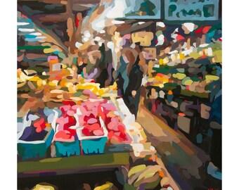 Granville Island Market, Fine Art Print of Vancouver by Canadian Artist Joanne Hastie