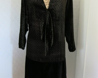 Genuine flapper dress from the 20s in large size