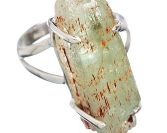 Green Kyanite Sterling Silver Ring Size 8.25