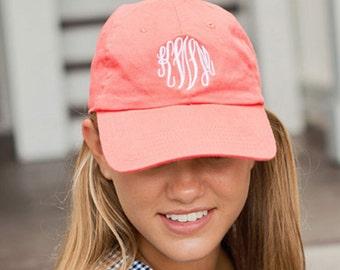 Monogrammed Ball Cap - Custom Monogrammed Hat - Summer Hat - Beach Hat - Pool Hat - Monogrammed Gift - Christmas gift - Birthday gift