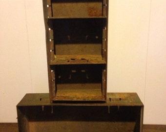 Vintage hardware drawer * vintage hardware bin * metal drawer • metal bin