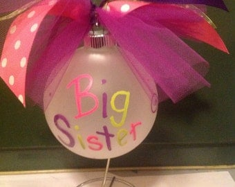 Little Sister Big Sister Ornaments