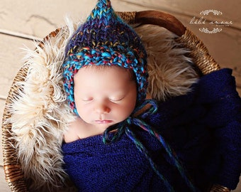 Baby Bonnet - 'MOD PODGE' - Essential bonnet line- newborn baby bonnet - photography prop - knitbysarah - stitches by sarah