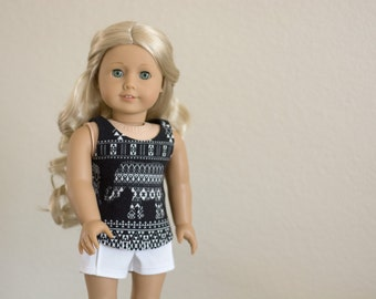 Elephant Tank Top ~ Fits 18 Inch Dolls ~ Doll Clothes