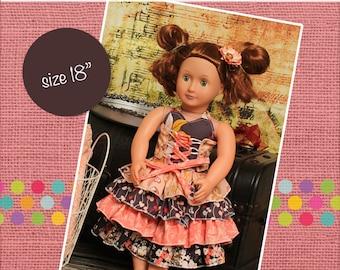 "Primrose's Ruffled Corset Princess 18"" Doll Dress PDF Pattern"