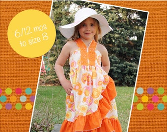 Monroe's Wrap Dress PDF Pattern - Sizes 6/12m to 8 Girls