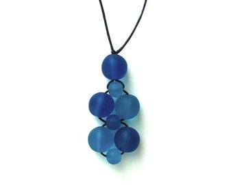 SALE - Nursing Necklace/ Breastfeeding Jewelry - Shades of Blue, Cobalt, Royal Blue, Turquoise, Sky Blue