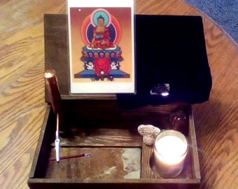 Altar in a Box. Intention-Setting Wood Portable Devotional Shrine