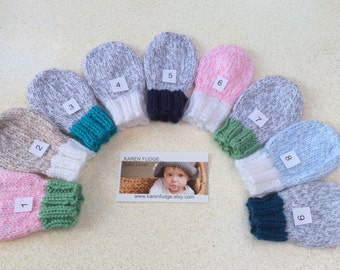 Thumbless Mittens, Baby Mittens, Children mittens with strings attached - Sizes Newborn/24 Months, Winter is coming, Mitts
