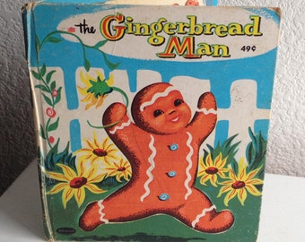 Vintage Children's Book - The Gingerbread Man - 1958