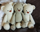 PATTERN: Lucas the Teddy - Amigurumi Pattern - Classical Teddy Bear Crochet Tutorial - Instant download- Printable- In English