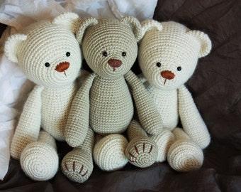 PATTERN: Lucas the Teddy - Amigurumi Pattern - Classical Teddy Bear Crochet Tutorial - Instant download- Printable- In English