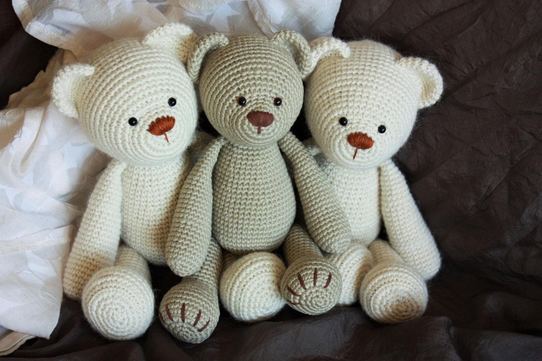 PATTERN: Lucas the Teddy - Amigurumi Pattern - Classical ...
