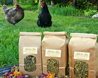 Herbs for Hens COOP CONFETTI™ Chicken Nesting Cubby Aromatherapy 1/4 lb 4 oz Organic Dried  Herbs Mint Lavender Rosebud Chamomile Calendula
