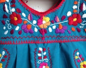 Vintage Hand Embroidered Mexican Children's Dress