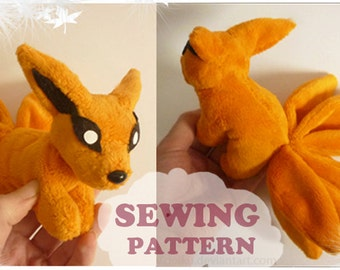 SEWING PATTERN Kurama Magnet plushie ~ Naruto