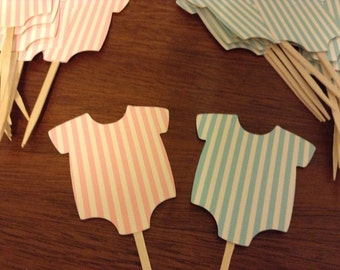 Cupcake Toppers, Baby Shower, Gender Reveal