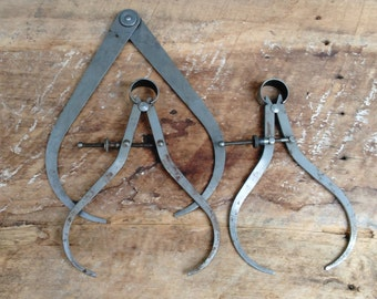 Vintage Calipers - Engineering Tools - Antique Tools - Machinist Calipers