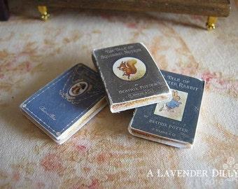 Peter Rabbit/Beatrix Potter Set of 3 Books for Dollhouse Miniature