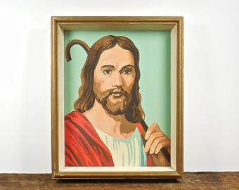Paint By Number Jesus, Vintage PBN, Religious Paint by Number