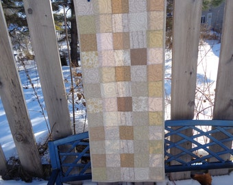 Neutral Table Runner, Table Runner, Patchwork Table runner 0129-01