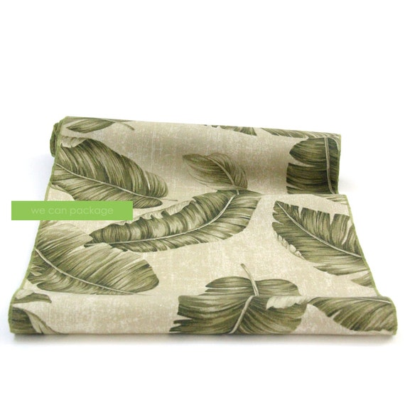 Leaves table runner by we can package 14 x 108 for 108 table runner