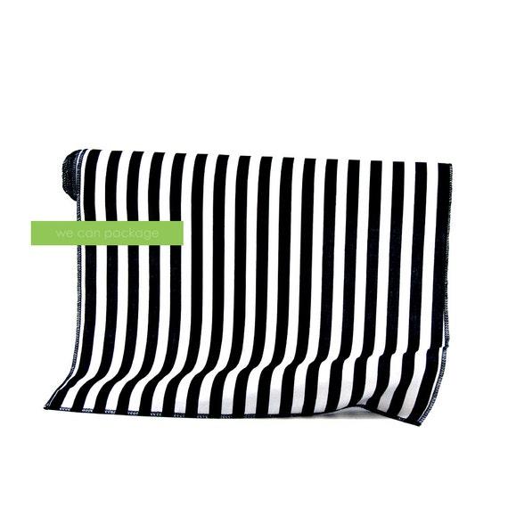 Chemin de table rayures noir et blanc en coton 14 x 108 - Chemin de table noir et blanc ...