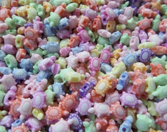 10mm* 6mm* 4mm, Turtle Spacer beads, 1.5mm Hole, Approx. 300 beads, 33g, Mixed Color