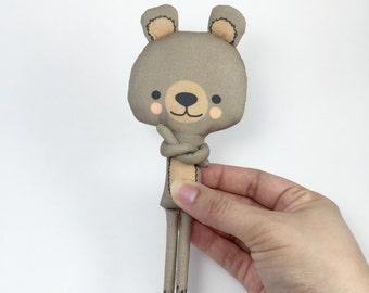 Miniature Latte Bear Stuffed Animal Handmade Eco-friendly Plush Mio Múcaro Small Creatures
