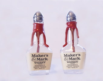 Makers Mark Salt and Pepper Shakers