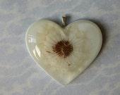 Dandelion Wishes Heart Pendant Necklace