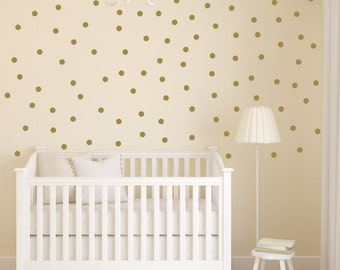 Baby Nursery Wall Decal | Gold Dot Decals | Polka Dot Decals | Office Decor
