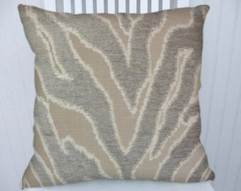 Grey Animal Print Chenille Pillow Cover-18x18 or 20x20 or 22x22-NEW Decorative Throw Pillow Cover, Accent Pillow Cover