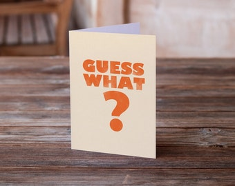 Greeting card - Guess what, Chicken butt - humor