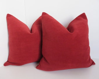 Pillow Cover - Red Pillow - Chenille Pillow Cover - Accent  pillows -Decorative Pillows - Red Pillows, Christmas Pillow cover -
