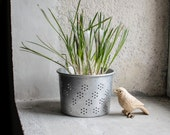 French Strainer Planter // Metal Cheese Mold