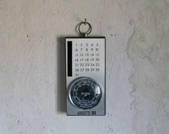 French Bar Barometer & Calendar  // Anisette 51 Pastis