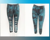 ON SALE!!! Medium - Womens / Juniors Tie Dyed Cut Up, Shredded and Weaved Capris Size Medium Sexy Club Wear - LS-8002