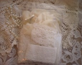 RESERVED For Terry...Vintage Shabby Chic Lace Art Supplies Destash Inspiration Collection From SincerelyRaven On Etsy