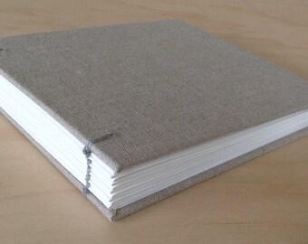 Linen art journal with watercolor paper