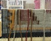 Navajo Rug, Two Grey Hills Design Rug, Raised Outline Rug, Natural Colors, Miniature Navajo Rug, Detailed Navajo made
