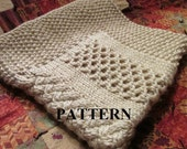 Knit Baby Blanket Pattern, Knitting Pattern, Honeycomb Basket Weave, Cable Knit, Chunky Yarn, Knitting Chart Included, *INSTANT DOWNLOAD*