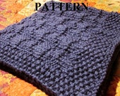 Knitting Pattern: Chunky Knit Baby Blanket in Reversible Stitch