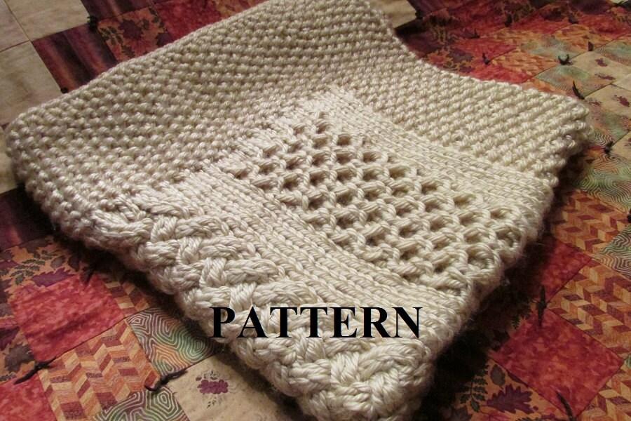 Knitting Pattern Blanket Knitting Pattern Honeycomb Basket