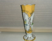 Vintage Porcelain Hand Painted Twist Vase by Royal Europe