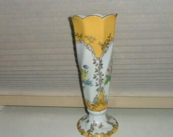 Vintage Porcelain Hand Painted Twist Vase by Royal Europe