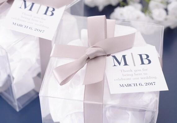 Monogram Wedding Tags Mini 2 X 2 Wedding Favor Tags Bag Tags