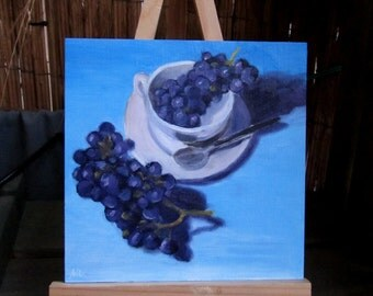 Daily Painting 08 - Grapes in a cup - free shipping