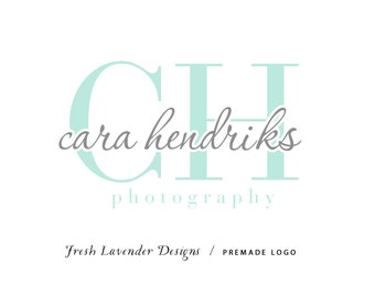 Custom Logo Design Premade Logo Design and Watermark for Photographers and Small Businesses Classic Monogram Logo