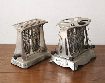 Vintage Royal Rochester Westinghouse Turnover Bread Toaster Set of 2